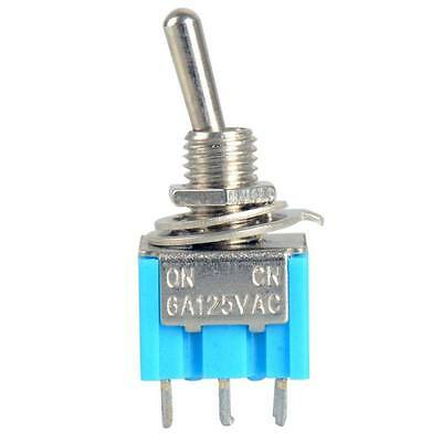 3-Pin SPDT ON-ON Mini Toggle Switch 6A 125VAC