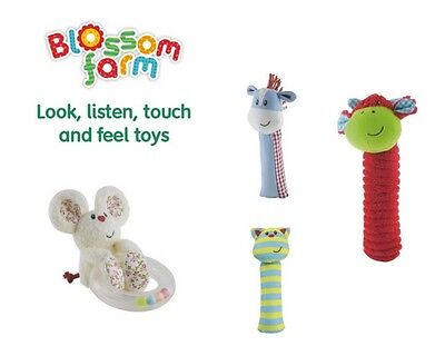 Early Learning Centre Blossom Farm Baby Rattles & Squeaker - Ideal Toy Gift ELC
