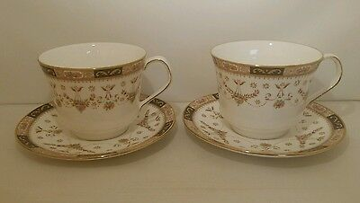 Queens Fine Bone China Olde England pattern large tea cup and saucer