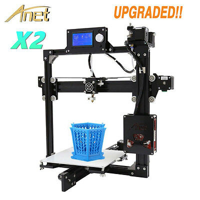 Anet X2 Upgraded Assembled High Precision Black Acrylic LCD Screen 3D Printer