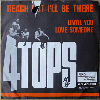 The Four Tops - Reach Out I'll Be There - Holland 1966 - VG to VG+