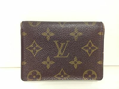 Authentic Louis Vuitton Pass/ID/ Oyster Card holder in monogram canvas.