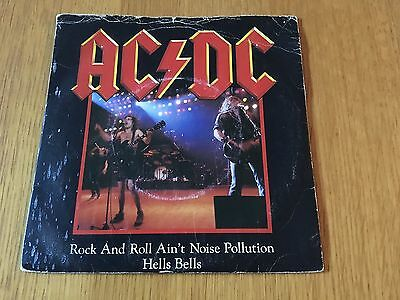 """Ac/dc - Rock And Roll Ain't Noise Pollution - 1980 7"""" P/s - Lots More In My Shop"""