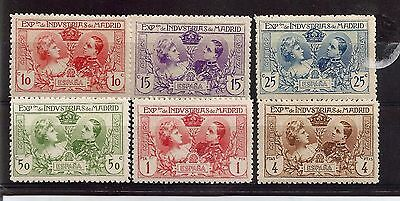 Spain 1907 Exhibition Of Industries Of Madrid Stamps On Stock Card ref 362
