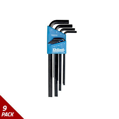 Eklind Tool Company Hex Key Set 9pc Metric Long 1.5-10mm [9 Pack]