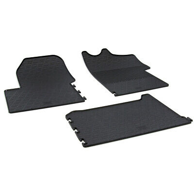 Renault Master Mk.3 2015 - 2017 Tailored Fit Rubber Black Moulded Car Floor Mats