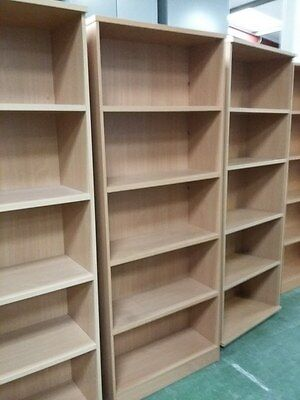 Bookcase tall beech colour (DELIVERY MAY BE POSSIBLE)