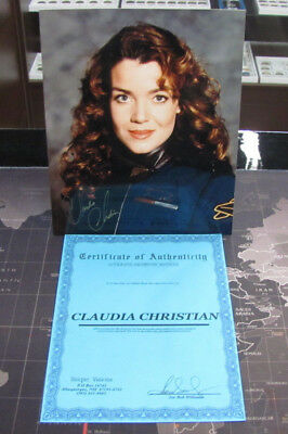 Claudia Christian Babylon 5 Autographed 8X10 Photo Coa 218-013