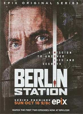 2016 PRINT AD for Epix tv Berlin Station Richard Armitage ADVERTISING PAGE