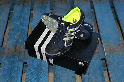 Adidas Edge Arriba Running Athletic Spikes Track Spint Blue Yellow Size 7