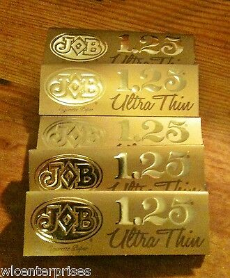 Job Ultra Thin Gold 1.25 Cigarette Rolling Papers - Lot Of 6 Packs