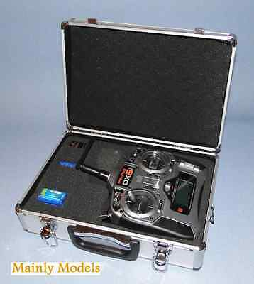 ALUMINIUM TRANSMITTER CASE to suit spectrum DX6 and other make transmitters