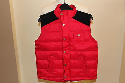 Girls or Boys Red & Black Quilted Gilet from Barbour