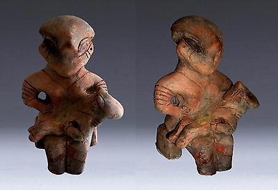 Neolithic Vinca Mother Goddess Figure & Baby - Circa 5Th - 4Th Millennium. B.c.