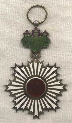 WWII Era Japanese Order of the Rising Sun 5th Class Medal