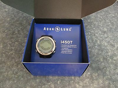 New Aqualung i450T Wrist Computer With USB - Blue Complete