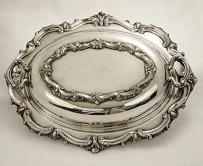 Vintage E.p.c.a Ornate Serving Dish #b -134 Bristol Silverplate By Poole Marked