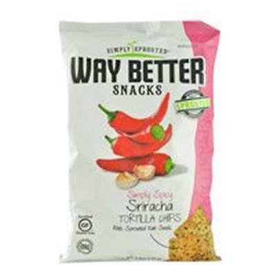 Way Better Snacks Simply Spicy Sriracha Tortilla Chips 5.5 Oz (Pack of 12)