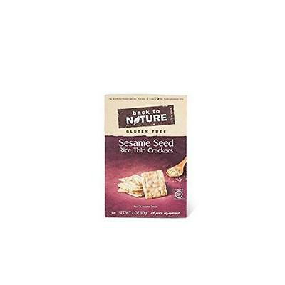 Back To Nature Gluten Free Rice Thins Sesame Seed 4 Ounce (Pack of 12)
