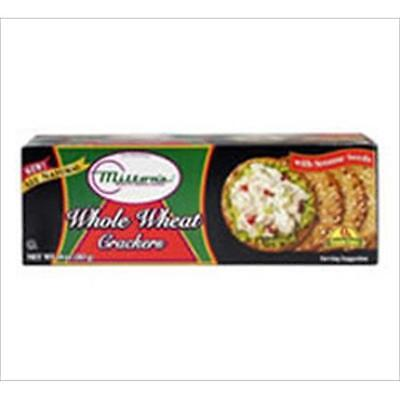 Miltons Gourmet Round Crackers Whole Wheat Sesame 8.3 Oz -Pack of 12