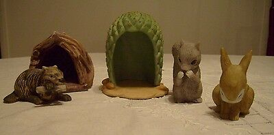 Woodland Surprises, Franklin Porcelain 1984, J Smith, Mixed Lot of Items