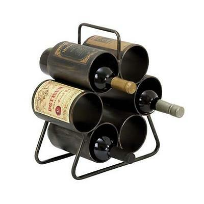 Woodland Import 34885 Wine Rack for Six Bottles with Space Saving Design