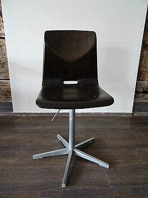 Thur-op-seat chairs,VINTAGE INDUSTRIAL DESIGN,  SWIVEL,  SEAT HEIGHT ADJUSTABLE