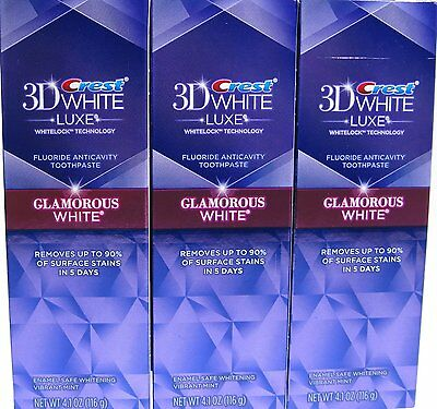 Crest White Luxe Glamorous White Toothpaste 3 Pack Removes 90% Of Surface Stains