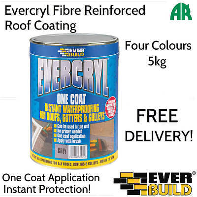 Evercryl | Fibre Reinforced Roof Coat | Roof Paint Sealant | 5kg