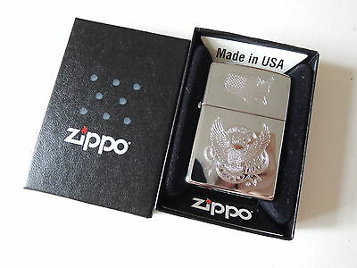 Authentic Zippo Lighter - American eagle 225090 - No Inside Guts Insert