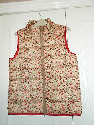Girls Next floral puffa sleeveless jacket bodywarmer gilet top size 10 years