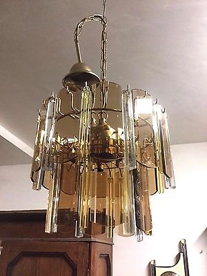 Vintage  Crystal Glass Midcentury Murano Chandelier