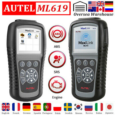 Autel AutoLink AL619 OBD2 CAN Diagnostic Scanner ABS Airbag Code reader CA Stock
