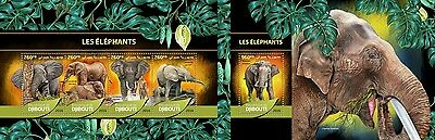 Z08 DJB16509ab DJIBOUTI 2016 Elephants MNH Set