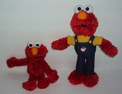 "Fisher Price & Hasbro 11"" and 9"" 2008 2010 Elmo Plush Toys NEAR MINT FREE S/H"