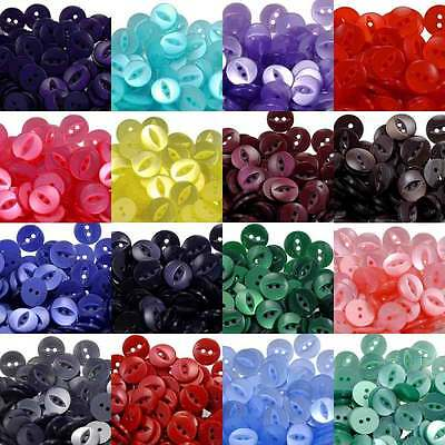 Fish Eye Buttons Size 22 (14mm) - 23 Colours - Sold in 100's (Fisheye)