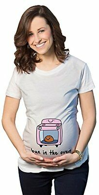 Maternity Bun In The Oven T-Shirt Cute Funny Graphic Pregnancy Tee S