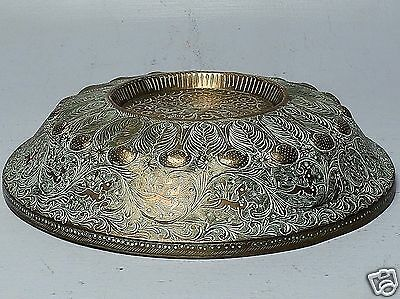Old Or Antique Persian Brass Inverted Bowl Or Kettle Stand? - Qajar Islamic VR