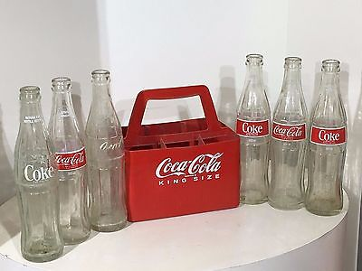 Vintage Coca-Cola Coke 6 Pack - Case + 6 Bottles