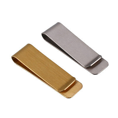 Simple Stainless Steel Metal Money Clip Dollar Cash Clamp Holder Wallet 2 Colors