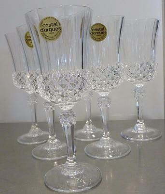 VINTAGE SET BOXED CRISTAL D'ARQUES CRYSTAL VALENCAY SMALL WINE GLASSES 11,5cl