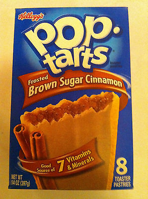 Kelloggs Pop tarts Frosted Brown Sugar Cinnamon 8 Toaster Pastries 400g
