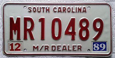 Rare Type South Carolina Licence Plate Manufacturer Repossessor all embossed tag