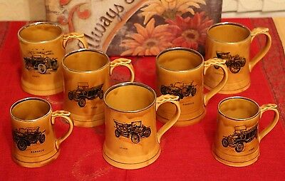 7 Authentic Vintage Wade Tankards - 5 large - 2 small.
