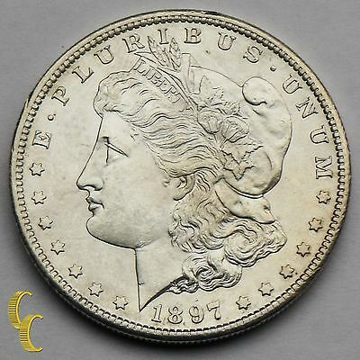 1897-S Silver Morgan Dollar $1 (Choice BU Condition) Full Mint Luster!