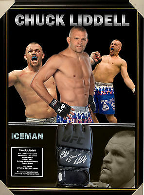Chuck Liddell Ufc Signed Framed Glove Jsa James Spence Authenticated Layby Now