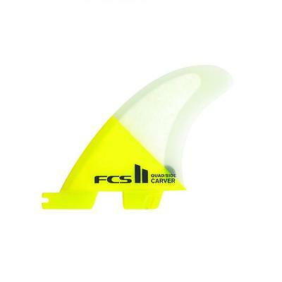 Fcs 2 Carver PC Quad Rear Surfboard Fins In Medium New & Genuine From FCS Surf