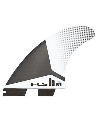 New FCS 2 JS - Jason Stephen's PC Tri Quad In Large Surfboard Fins Genuine FCS