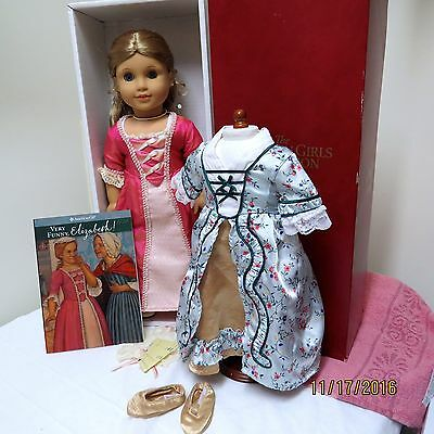American Girl Elizabeth Doll Box Accessories First Edition & Holiday Outfit Too