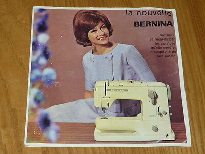 Vintage Bernina Record 730 Booklet - Flyers (French)